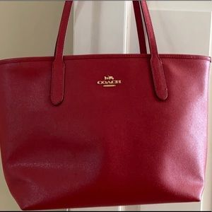 New Coach Red Laptop Bag